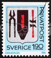 Postage stamp Sweden 1986 Arms of Harjedalen Province