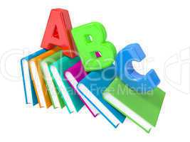 ABC Letters with Group of Books.