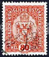Postage stamp Austria 1916 Coat of Arms of Austrian Empire