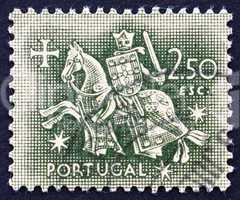 Postage stamp Portugal 1953 Equestrian Seal of King Diniz