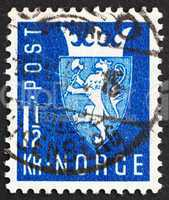 Postage stamp Norway 1945 New National Arms of 1943