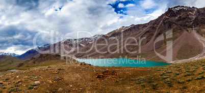 lake Chandra Taal Spiti Valley, Himachal Pradesh, India