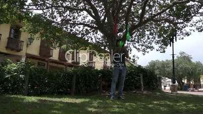 Solo Street Juggler