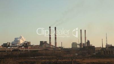 Large metallurgical plant.
