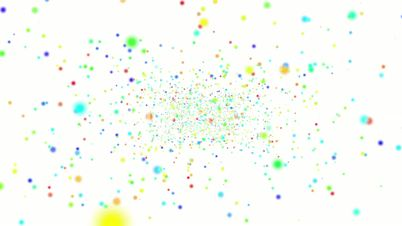 Flickering Particles, random motion of particles, Loopable