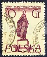 Postage stamp Poland 195 Feliks E. Dzerzhinski, Polish Revolutio