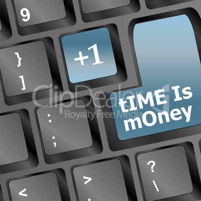 Time is money keys showing hours, business concept