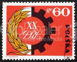 Postage stamp Poland 1964 Symbol of Peasant-Worker Alliance