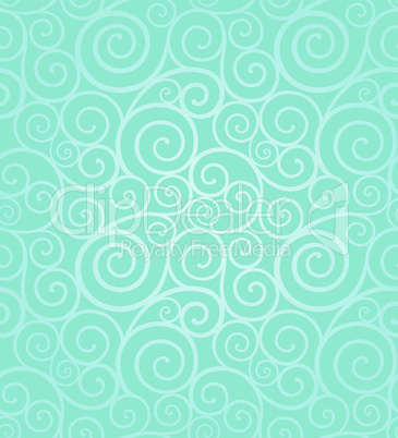 Frosty winter swirl seamless pattern