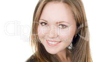 Portrait of the smiling pretty girl. Isolated
