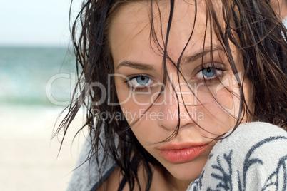 Pretty blue-eyed woman