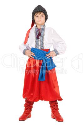 Boy in the Ukrainian national costume