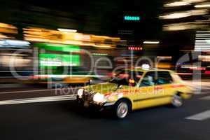 Rushing through Tokyo by Night