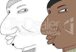 Black Man Grinning