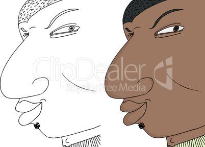 Black Man Winking