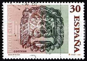 Postage stamp Spain 1995 Bronze Lion?s Head, Decoration