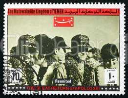 Postage stamp Yemen 1969 Reunited, Apollo XIII