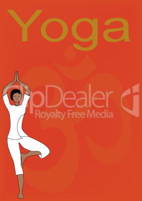 Yoga Tree Pose Poster.