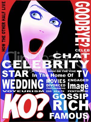 Celebrity Magazine Cover