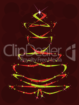 Red and Yellow Ribbon Tree