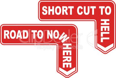 A Pair of Warning Signs