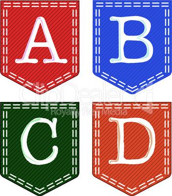 Four letters: A, B, C, D.