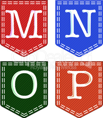 Four Letters, M, N, O, P.