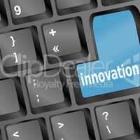 Innovation word on keyboard - business concept