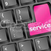 Services keyboard button - vector business concept