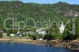 Quebec, the village of Sainte Rose du Nord
