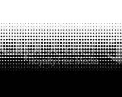 Schwarze Punkte und weiße Fläche