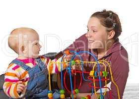 Baby with motor activity development delay