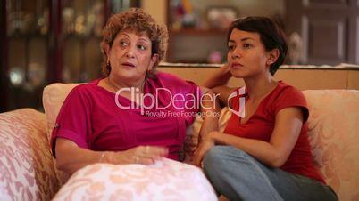 happy mother daughter conversation