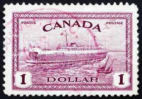 Postage stamp Canada 1946 Train Ferry, Prince Edward Island