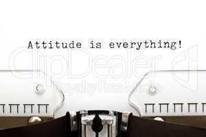 Typewriter Attitude is Everything