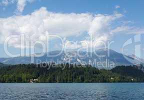 Bled Lake - Blejsko jezero in Slovenia with Julian Alps
