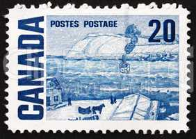 Postage stamp Canada 1967 The Ferry, Quebec