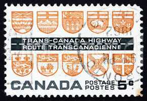 Postage stamp Canada 1962 Arms of the Canadian Provinces