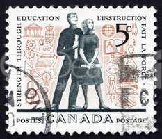 Postage stamp Canada 1962 Young Adults and Education Symbols