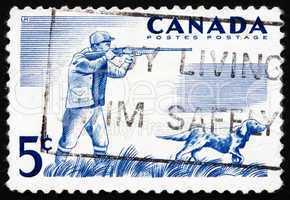 Postage stamp Canada 1957 Hunter and Dog