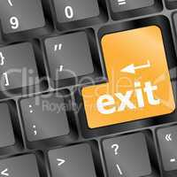 computer keyboard with exit button