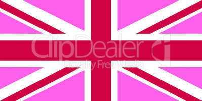 united kingdom pink flag