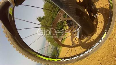 Downhill Mountain Bike Wheel View 1