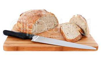 loaf of bread and knife