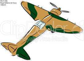 PZL P-24G WW2 Combat Plane
