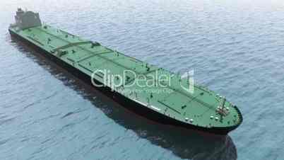 Oil tanker in a sea
