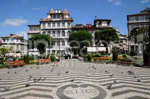 square in the city of Guimaraes in Portugal