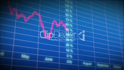 Stock Market board with graph. HD 1080. Looped animation.