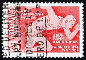 Postage stamp Canada 1967 Runner, Pan-American Games
