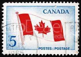 Postage stamp Canada 1965 Canada?s Maple Leaf Flag